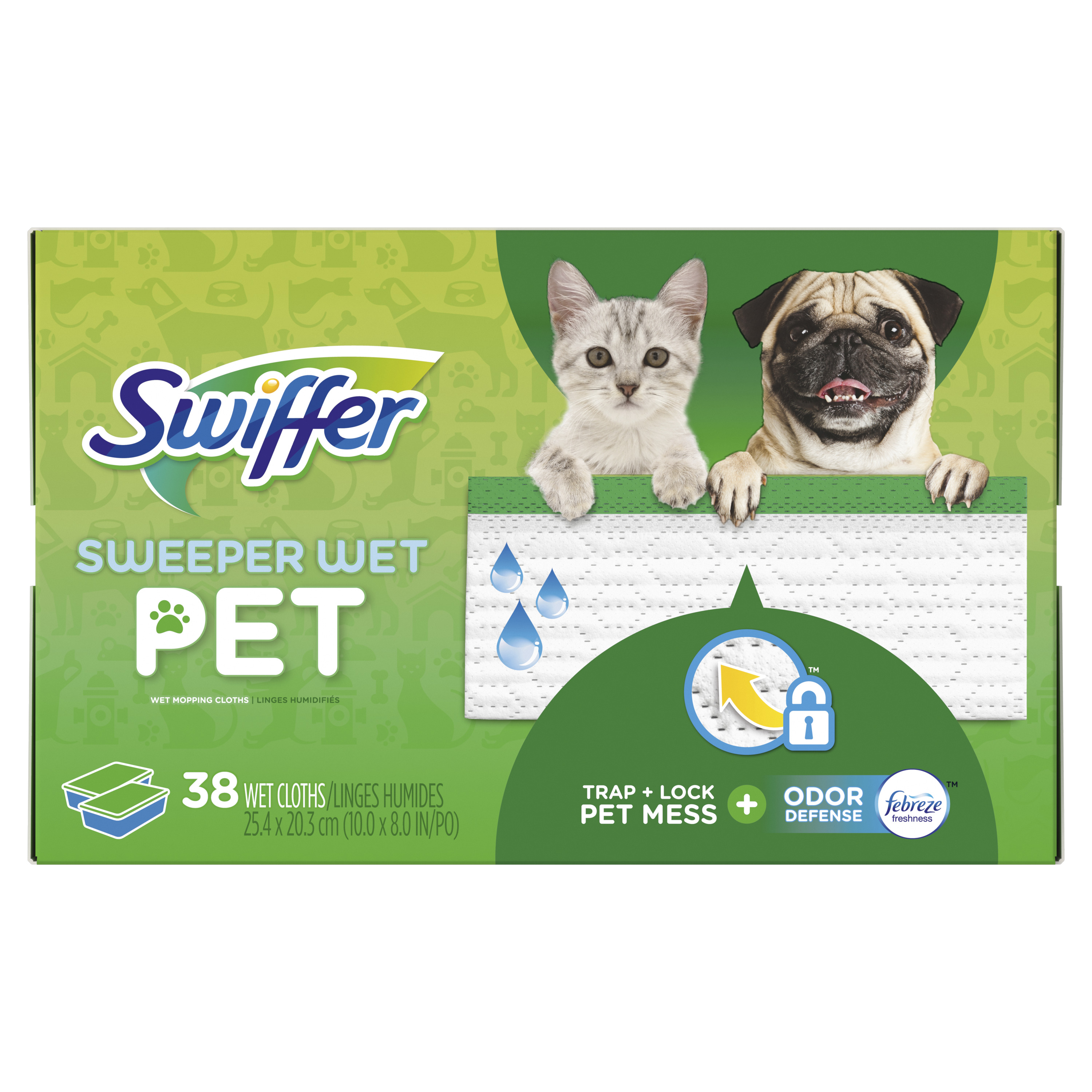 Swiffer Sweeper Wet Pet Mopping Cloths, 38 Count