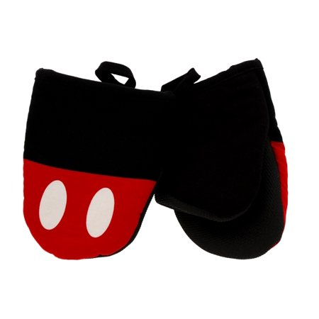 "Disney Kitchen Cotton Mini Oven Mitts/Glove Set w/ Neoprene Insulation for Easy Gripping, 5"" x 6.5"", Classic Mickey,"