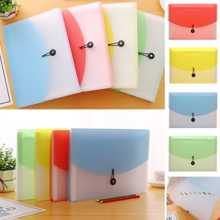 Plastic A4 Expanding File Document Organiser Folder 13 Pocket Folder Document Accordion Organizer Divider Office Home School ()