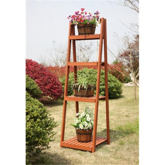 Planters G10044 4 Tier Plant Stand, Red Cedar by Planters