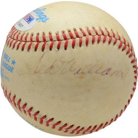 Ted Williams Boston Red Sox Autographed Vintage Toned Baseball - PSA V14007 - Fanatics Authentic Certified