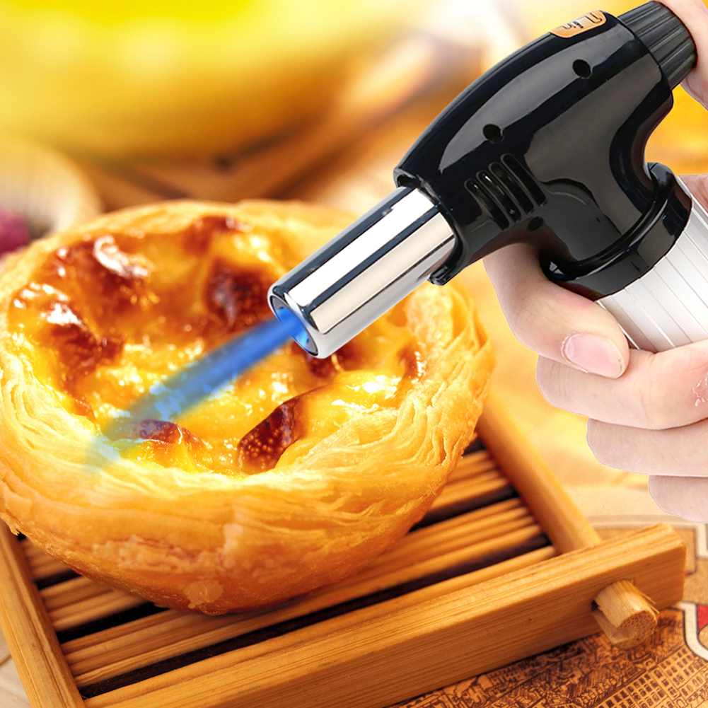 Professional Kitchen Butane Blow Torch Adjustable Flame for Meat Seafood , Butane Torch, Butane Blow Torch
