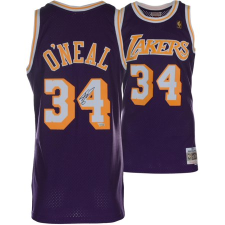 Shaquille O'Neal Los Angeles Autographed Mitchell & Ness Hardwood Classic Swingman 1996-1997 Purple Replica Jersey - Fanatics Authentic