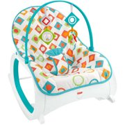 Fisher-Price Infant-To-Toddler Rocker - Soothing Baby Seat with Removable Bar, Geo Diamonds