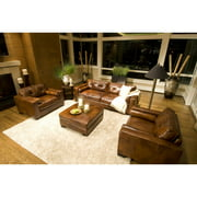 Soho 3-Piece Top Grain Leather Collection in Rustic including 1-Sofa and 2-Standard Chairs