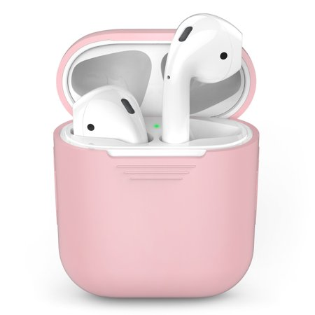 Tiehnom AirPods Silicone Case Cover Protective Skin for Apple Air pods Charging Case, Pink (Airpods or Airpod Charger Case Not Included)