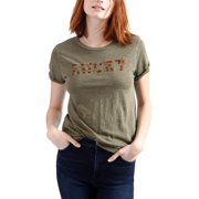 Lucky Brand Womens Logo Slub T-Shirt