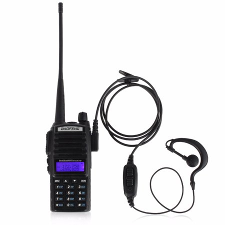 BaoFeng UV-82L Walkie Talkie Radio 2 Way 128 Channel Walkie Talkie Radio Transcevier VHF UHF Dual Band Walkie Talkie 65-108MHz FM Radio with Original Earpiece and Desktop Charger (Walky Talky Marine Band)