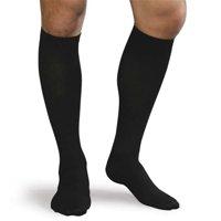Advanced Orthopaedics 9505 - BL 30 - 40 mm Hg Compression Mens Support Socks, Black - Medium