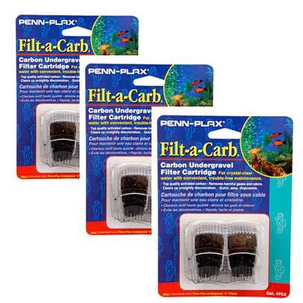 "Penn-Plax Filt-a-Carb ""E"" Carbon Undergravel Filter Cartridge, 6-Pack"