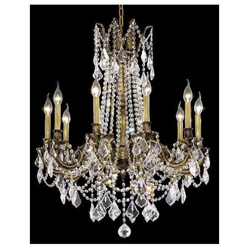 Elegant Lighting 9210D28AB/RC Chandeliers Rosalia