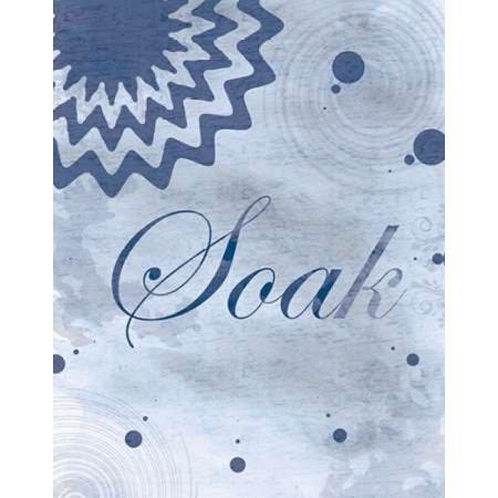 Soak Blue Spa 2 Poster Print by Lauren Gibbons (11 x 14)