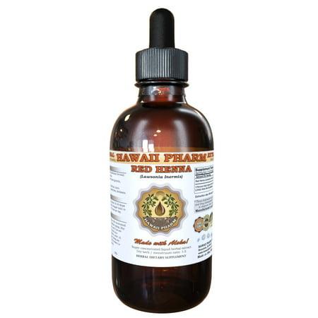 Henna Extract - Red Henna (Lawsonia inermis) Tincture, Organic Leaves Powder Liquid Extract, Egyptian privet, Herbal Supplement 2 oz