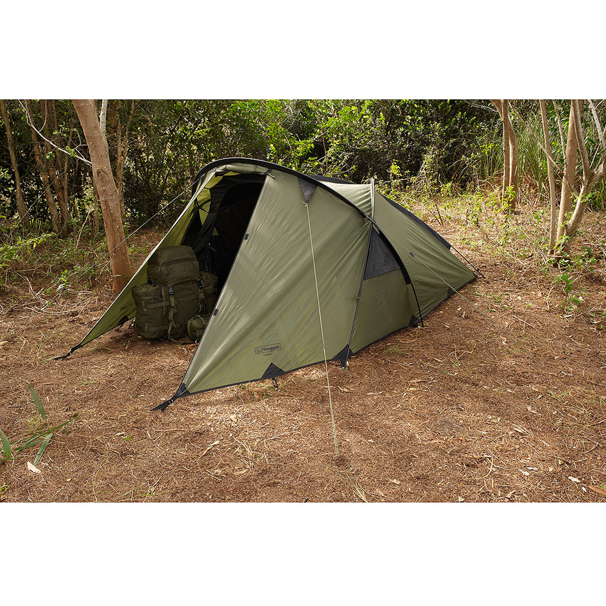 Click here to buy Snugpak Scorpion 3 Tent in Olive by Snugpak.