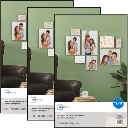 Mainstays 11x17 Format Picture Frame, Set of 3 (Wall Tree Photo Frame)