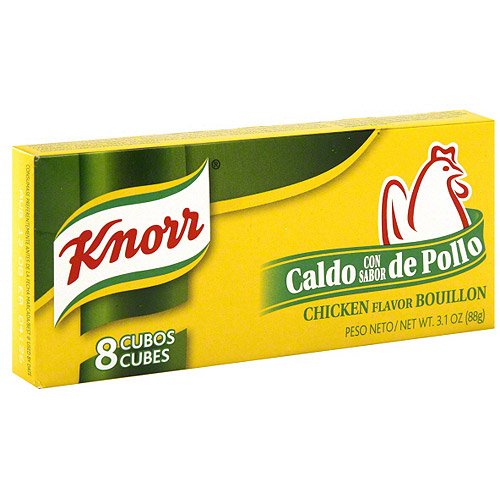 Knorr Hispanic Chicken Flavor Bouillon Cubes, 3.1 oz (Pack of 24)