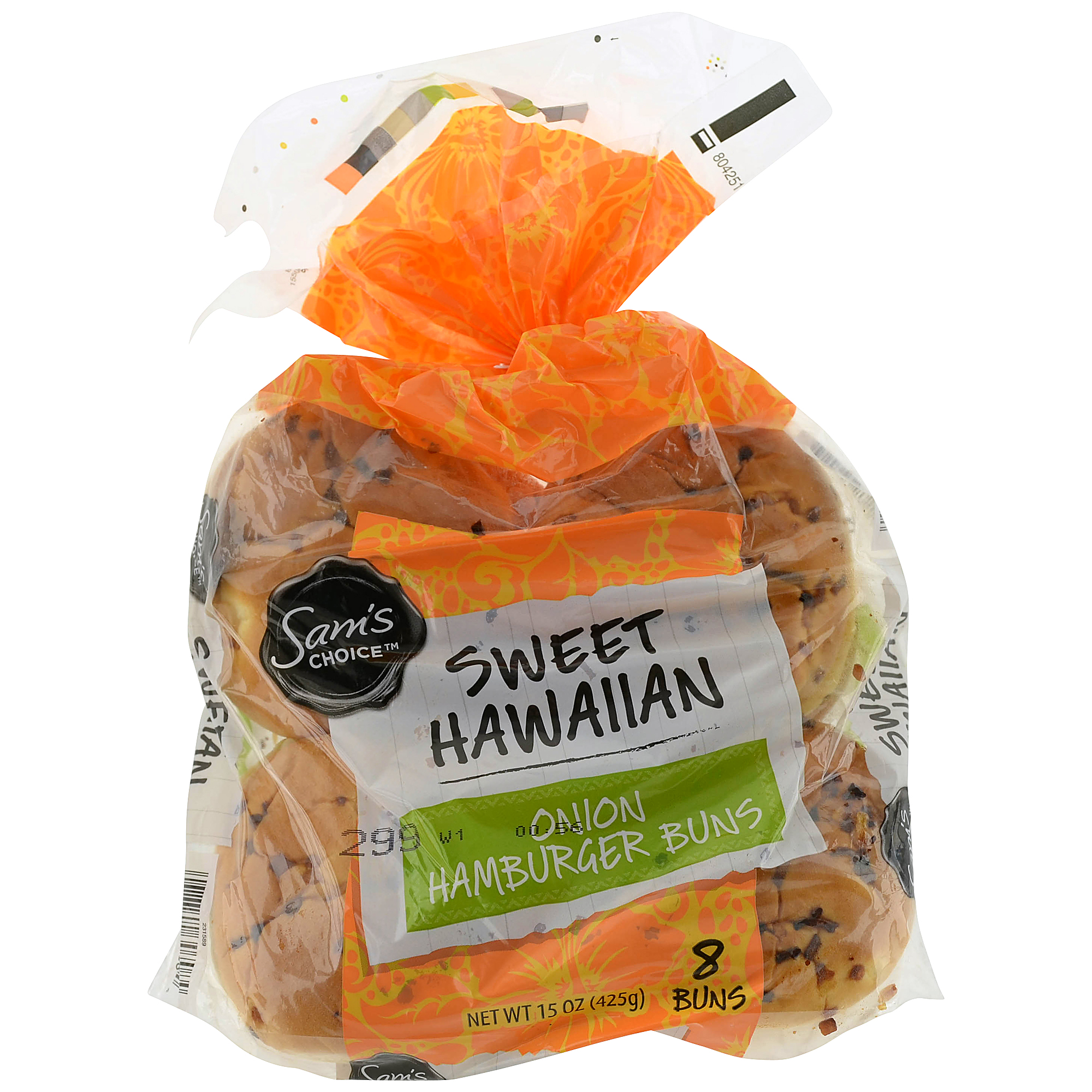 Sam's Choice Sweet Hawaiian Onion Hamburger Buns, 15 oz, 8 count