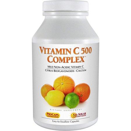 Andrew Lessman Vitamin C 500 Complex 180 Capsules – Non-Acidic Vitamin C Plus Citrus Bioflavonoids for Immune System and Anti-Oxidant Support, No Stomach Upset, Small Easy to Swallow Capsules