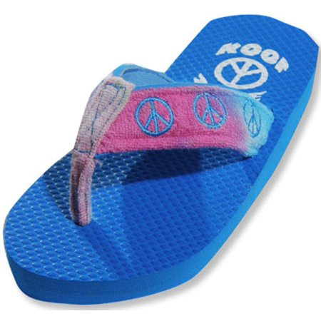Sole Kool - Girls Peace Flip Flop MULTICOLOURED / X-Small (girls flip flops size 2)