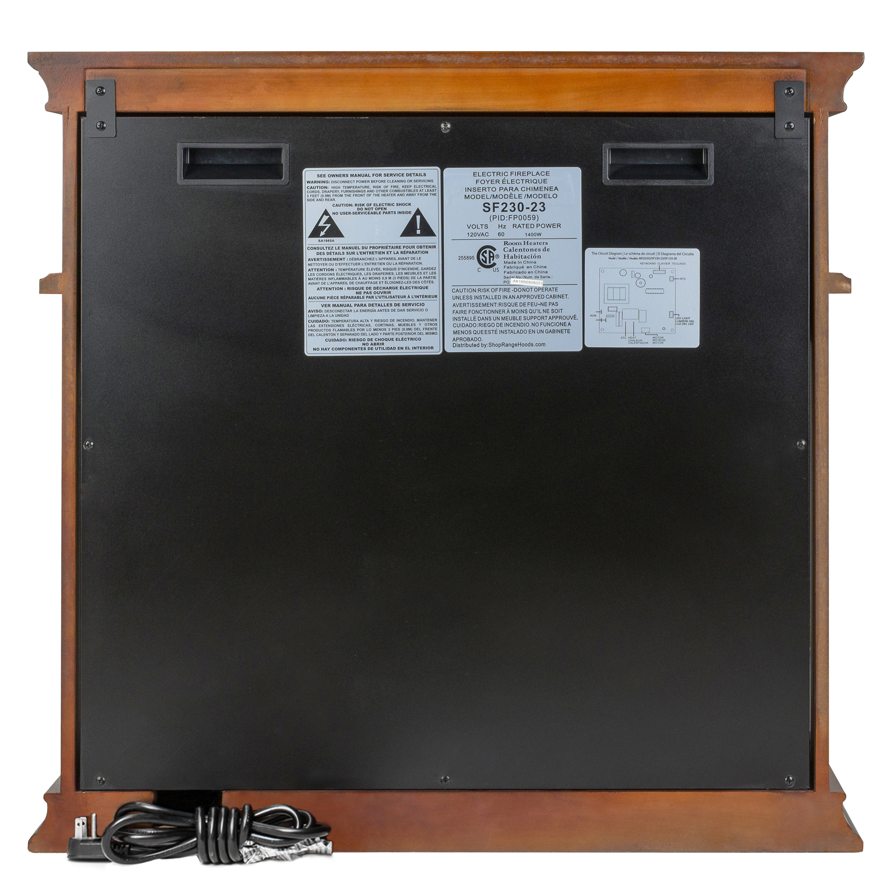 """AKDY FP0059 29"""" Freestanding Electric Fireplace Heater Stove w/ Wooden  Brown Mantel Remote Control - Walmart.com"""