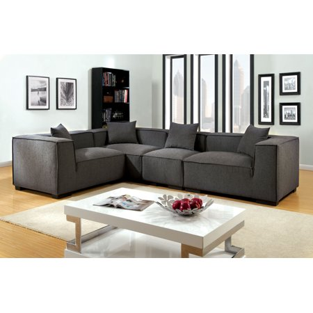 Furniture of America Evita Transitional Modular Sectional, Gray ()