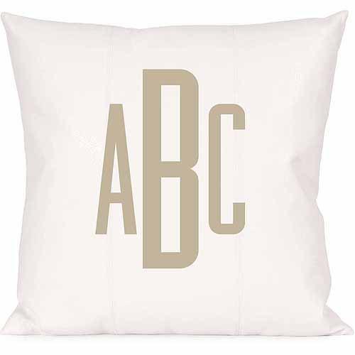 Personalized Raised Monogram Pillow