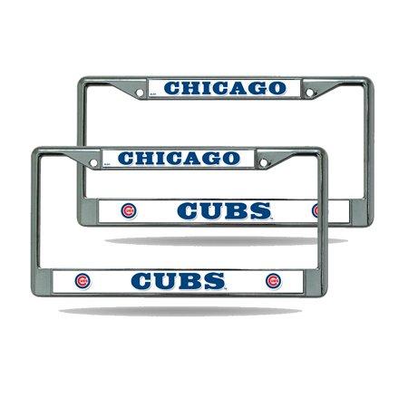 Chicago Cubs 2 Chrome Metal License Frame - Walmart.com