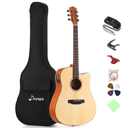 Donner DAG-1CE Electric Acoustic Guitar Cutaway 41