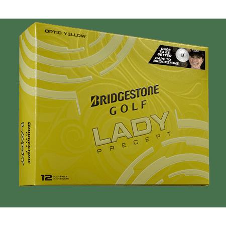Bridgestone Golf Lady Precept Golf Balls, Yellow, 12