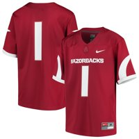 #1 Arkansas Razorbacks Nike Youth Team Replica Football Jersey - Cardinal