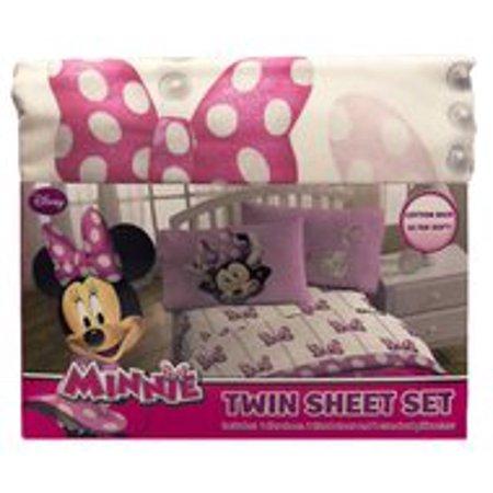 Disney® Minnie Mouse Sheet Set - White (Twin)