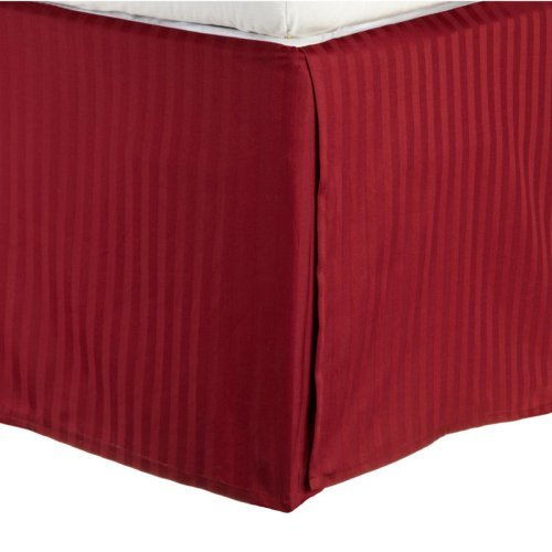 Impressions 300 Thread Count Egyptian Cotton Sateen Weave Stripe Bedskirt