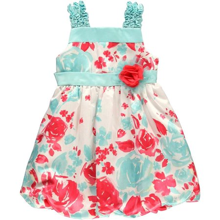 Rare Editions Girls 2T-6X Printed Bubble Dress