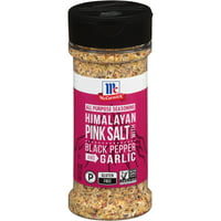 McCormick Himalayan Pink Salt with Black Pepper and Garlic All Purpose Seasoning, 6.5 oz