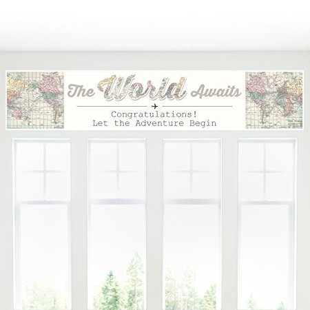 World Awaits - Travel Themed Party Decorations Party Banner - Travel Themed Party Decorations