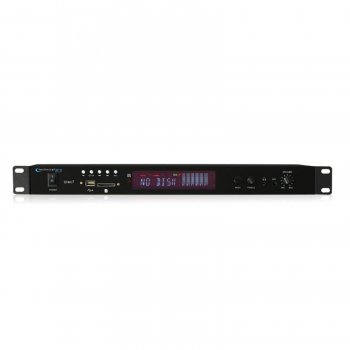 Technical Pro Professional Rack Mountable USB/SD Recording Deck-Black Pro Professional Rack