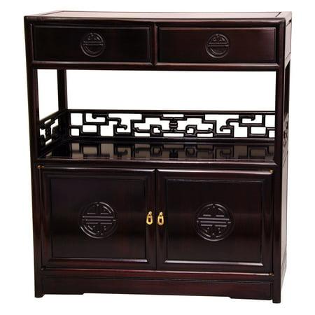 Rosewood Long Life Display Cabinet, Rosewood - Long Life Display Cabinet