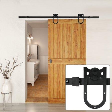 6 Ft Modern Antique Style Interior Sliding Barn Door Kit