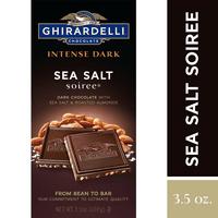 Ghirardelli Intense Dark Chocolate Bar - Sea Salt Soiree  3.5 oz.
