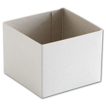Deluxe Small Business Sales H43 4 x 4 x 3 in. Hi-Wall Gift Box Bottom, (Deluxe Double Gift Box)
