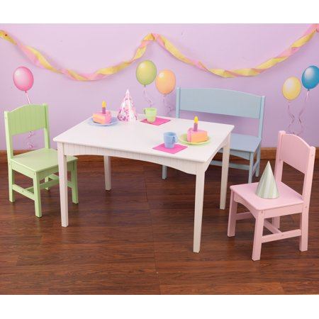 Kidkraft Nantucket Kids Table With Bench And 2 Chairs Set