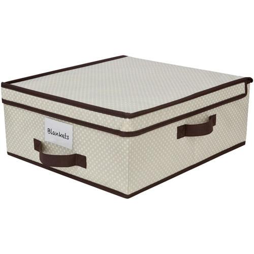 Delta Under-Crib, Under-Bed Storage, Beige Polka Dot