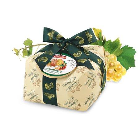 Albertengo Moscato Wine Panettone Italian Holiday Cake - 2.2 lb ()