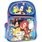 "Backpack - Sonic the Hedgehog - Shadow/Tails/Knuckle Team 16"" School Bag 139951"