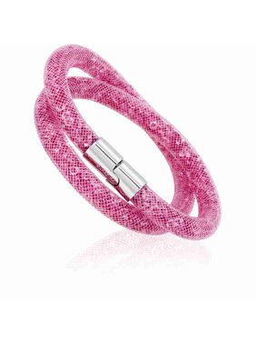 2786744d633 Product Image Swarovski Stardust Pink Ladies Double Bracelet- Small 5139747