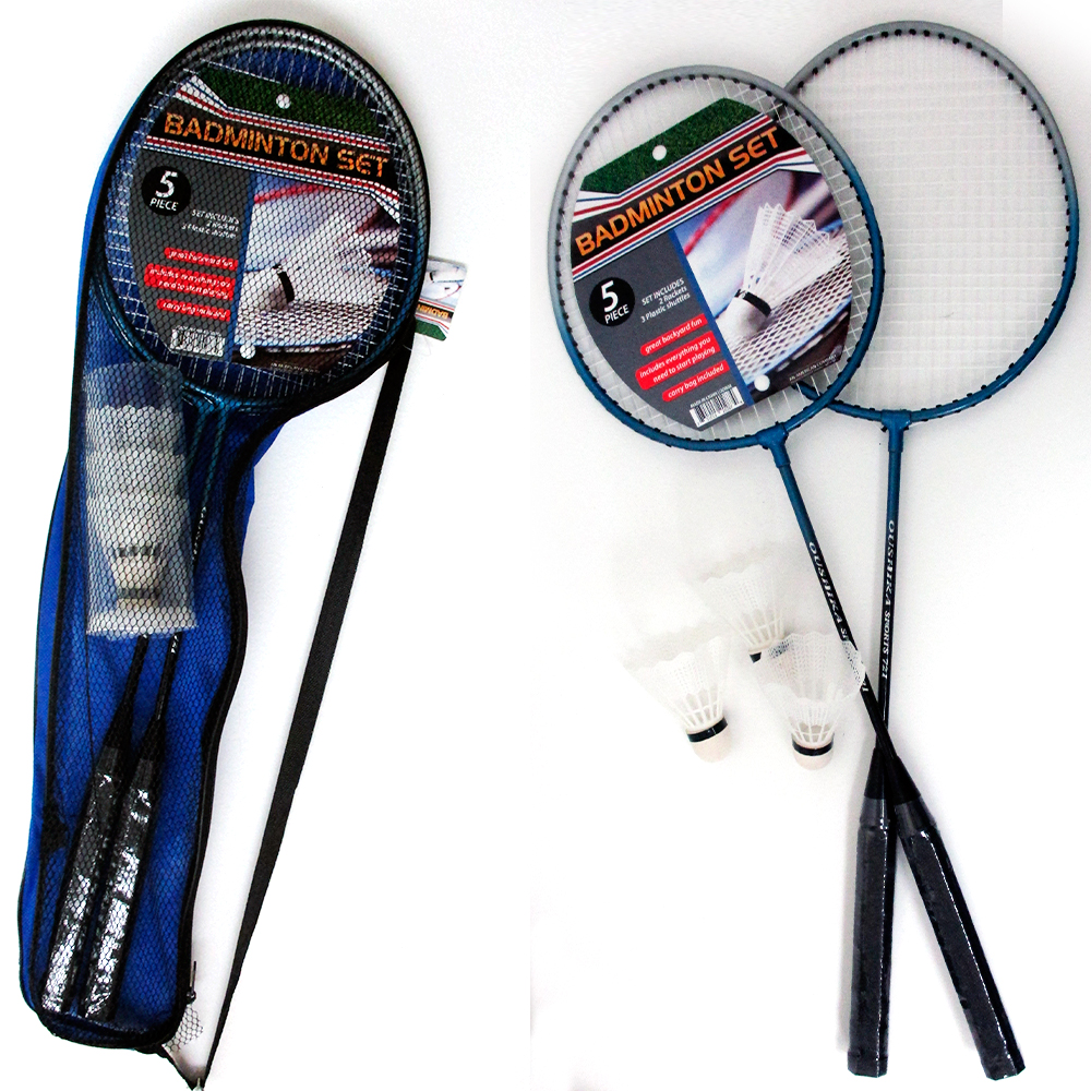 5 Pc Set Badminton Rackets Training Shuttlecocks Ball Sport Game Medium Quality
