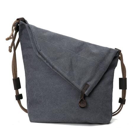 5 Colors Vintage Canvas Cowhide Leather Bag Cross body Bag Retro Handbag Single Shoulder Bag for Men and Women