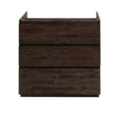 Floor Standing Vanity Unit - Fresca Formosa Floor Standing 35'' Single Bathroom Vanity Base Only