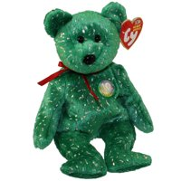 TY Beanie Baby - DECADE the Bear (Green Version) (8.5 inch) 64608574f673
