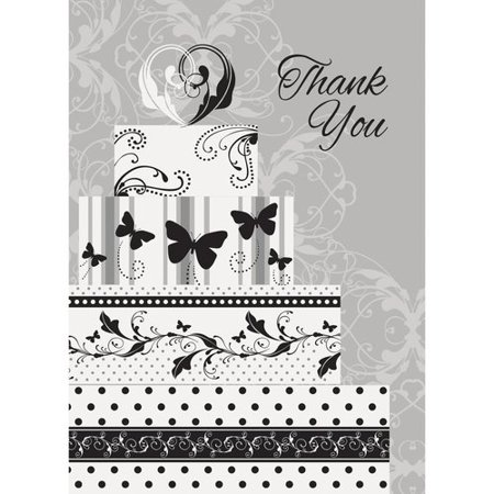 Victorian Wedding Thank You Cards, 8-Count